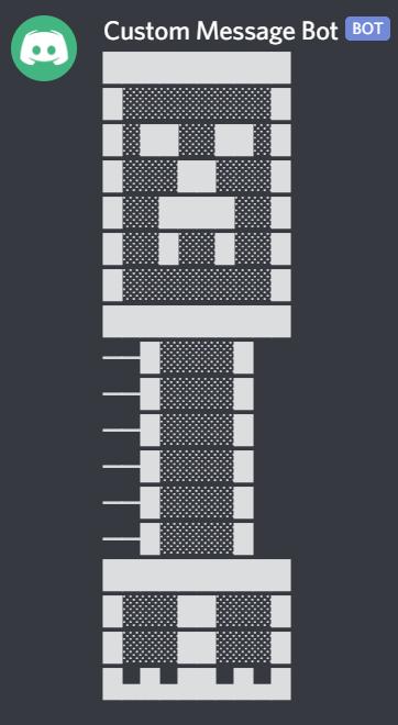 Discord Custom Message Bot demo